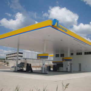 estruturas metálicas para posto de combustíveis